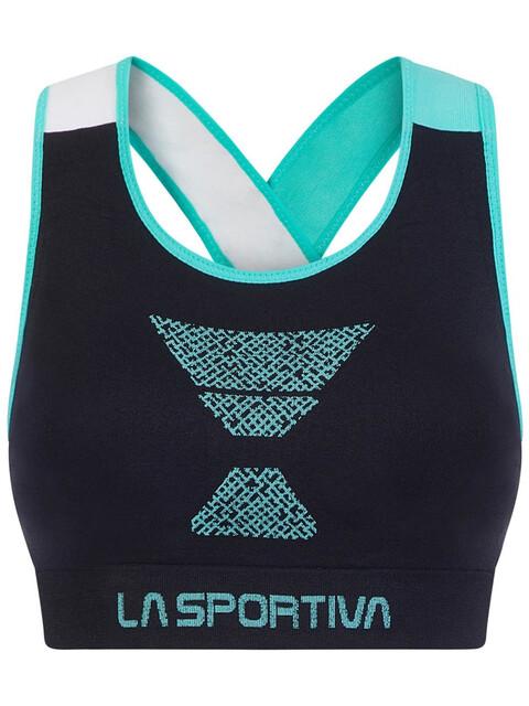 La Sportiva Focus Top Women Black/Aqua